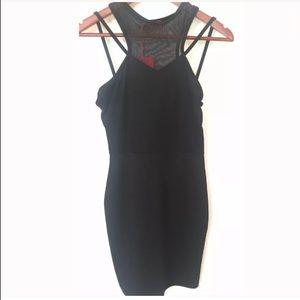 BOOHOO Womens Black Mesh Mini Dress